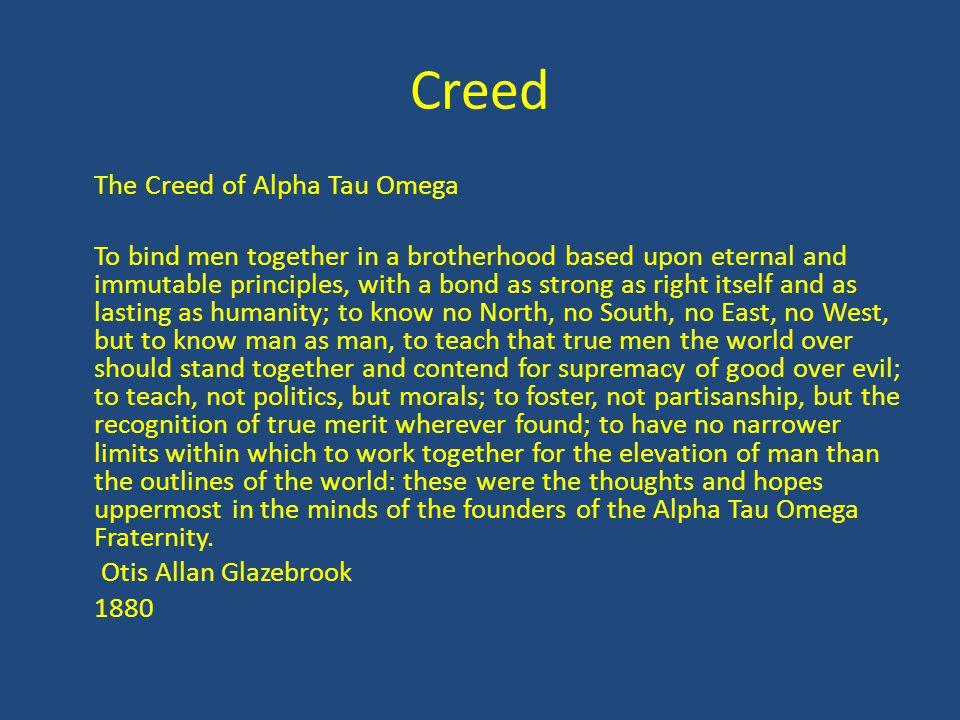Creed The Creed of Alpha Tau Omega