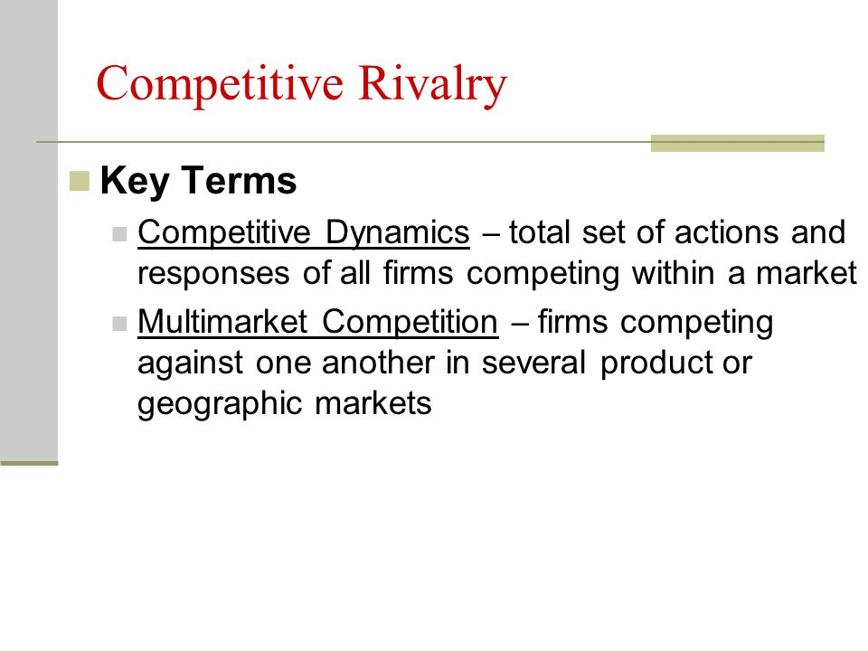 Competitive Rivalry Key Terms
