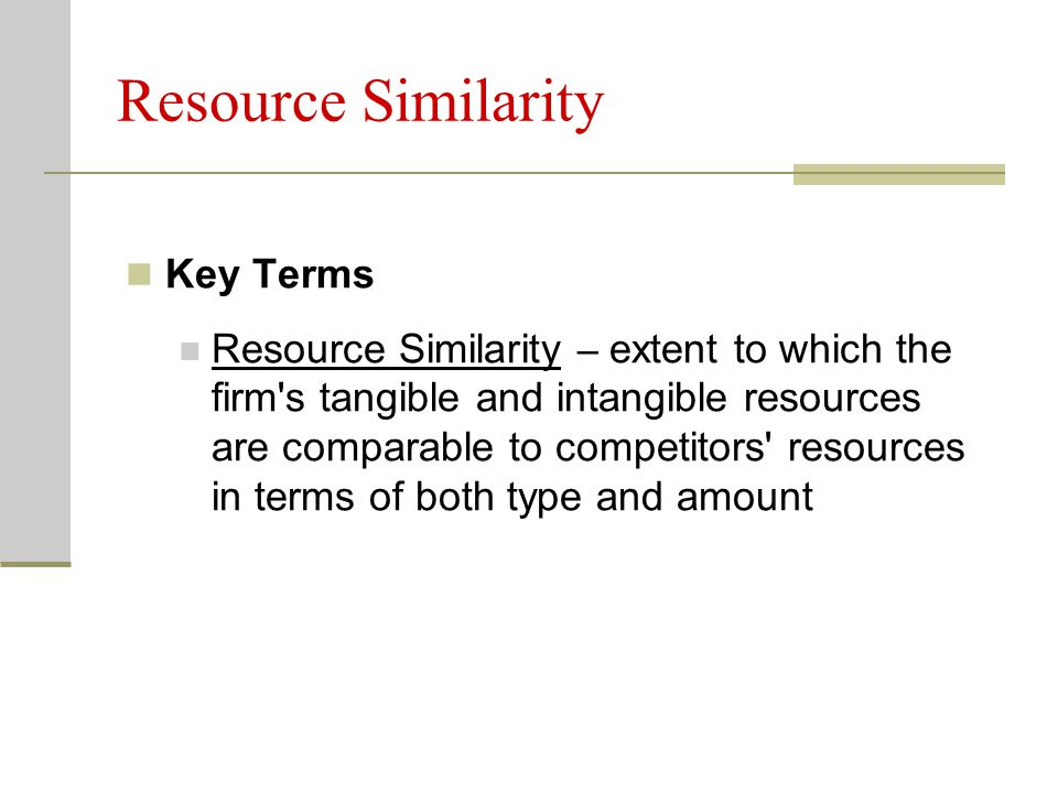 Resource Similarity Key Terms
