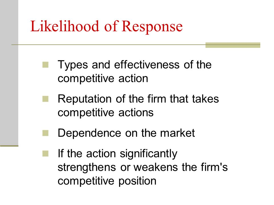 Likelihood of Response