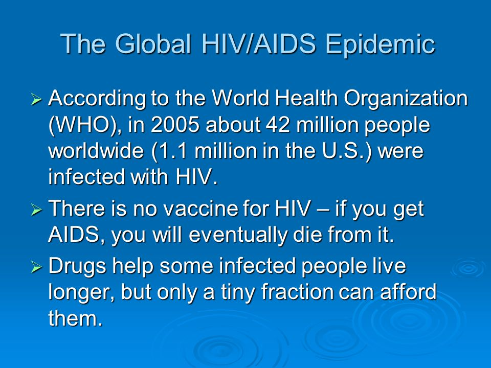 The Global HIV/AIDS Epidemic