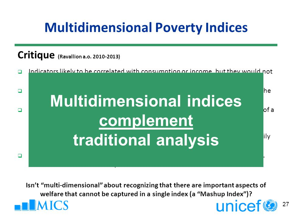 Multidimensional Poverty Indices