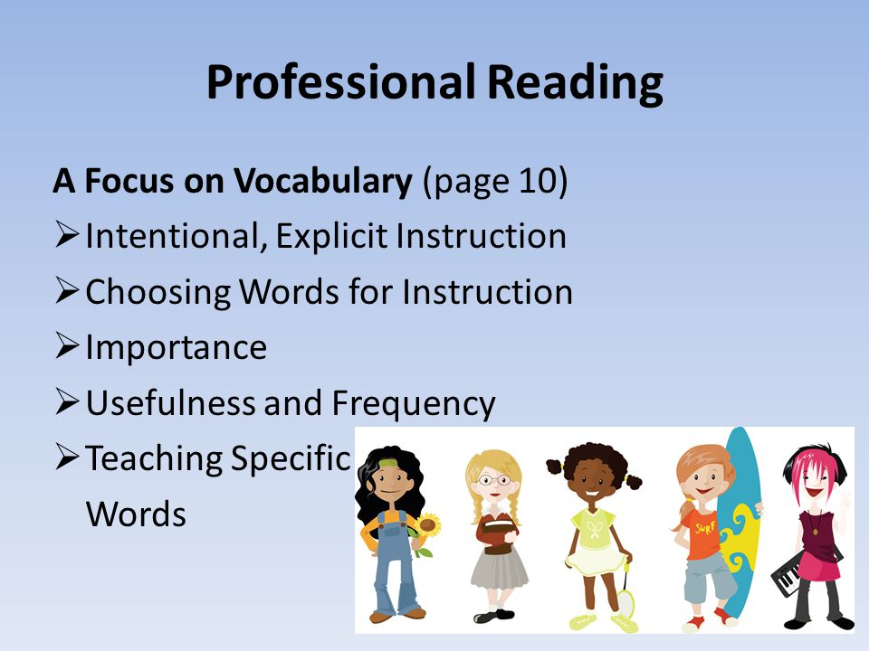 Professional Reading A Focus on Vocabulary (page 10)