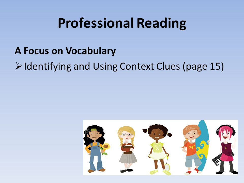 Professional Reading A Focus on Vocabulary