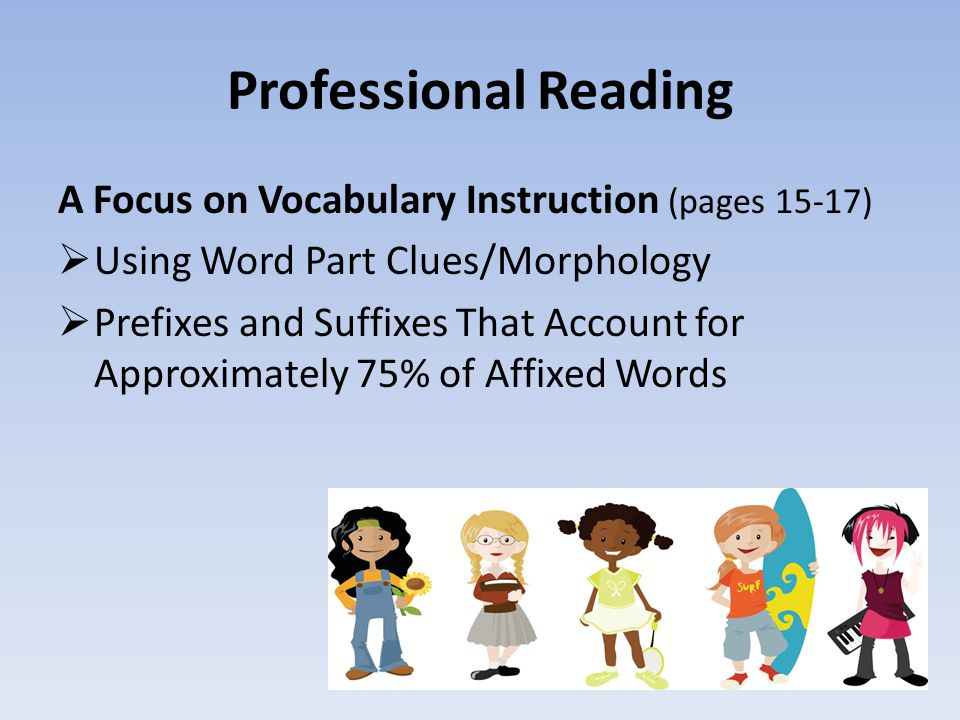 Professional Reading A Focus on Vocabulary Instruction (pages 15-17)