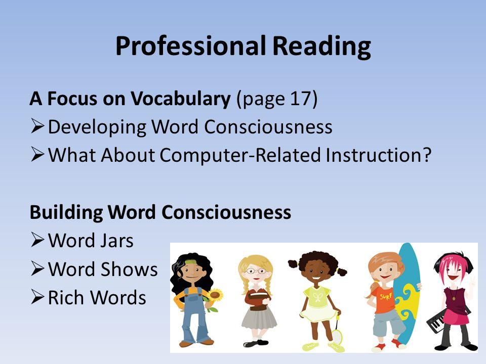 Professional Reading A Focus on Vocabulary (page 17)