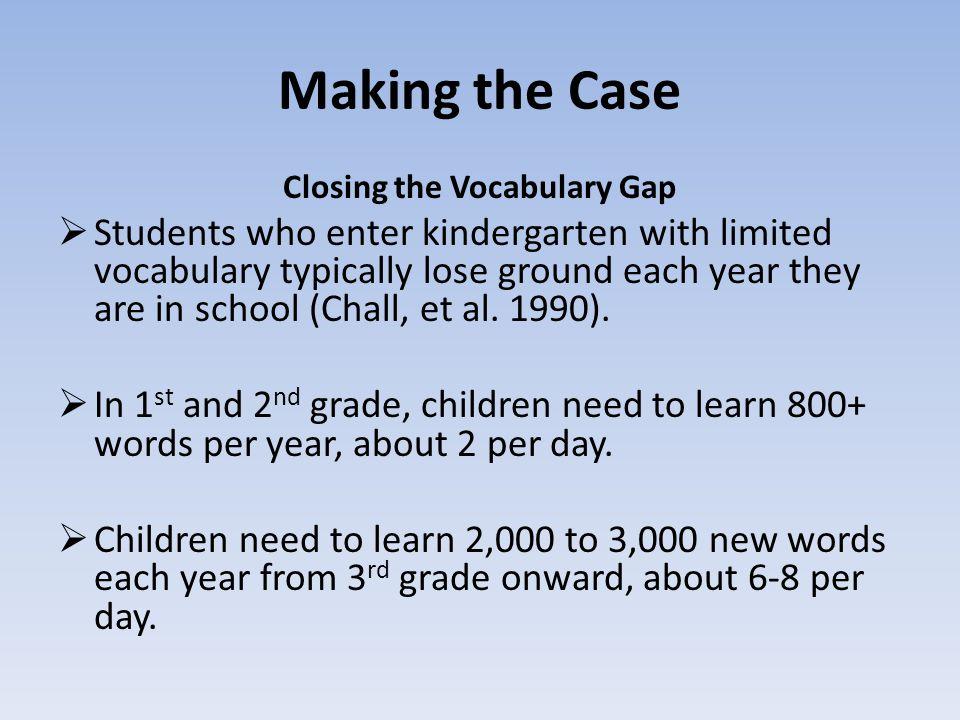 Closing the Vocabulary Gap