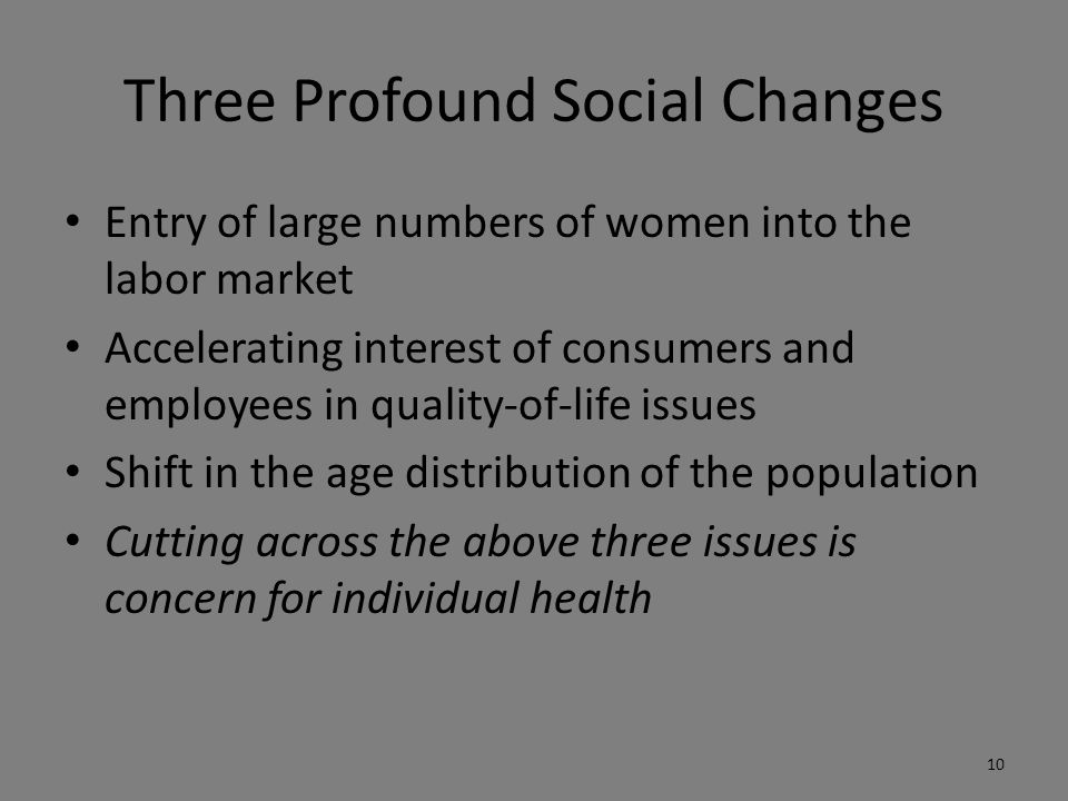 Three Profound Social Changes