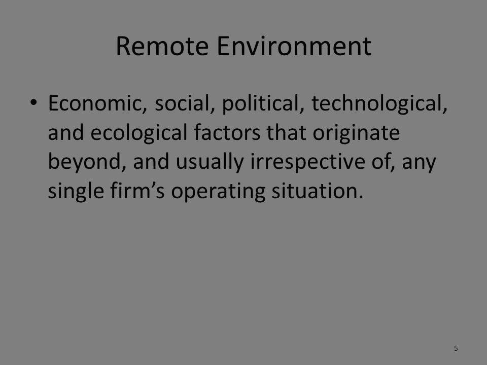 Remote Environment