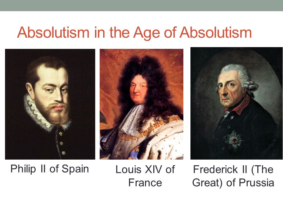 Absolutism in the Age of Absolutism
