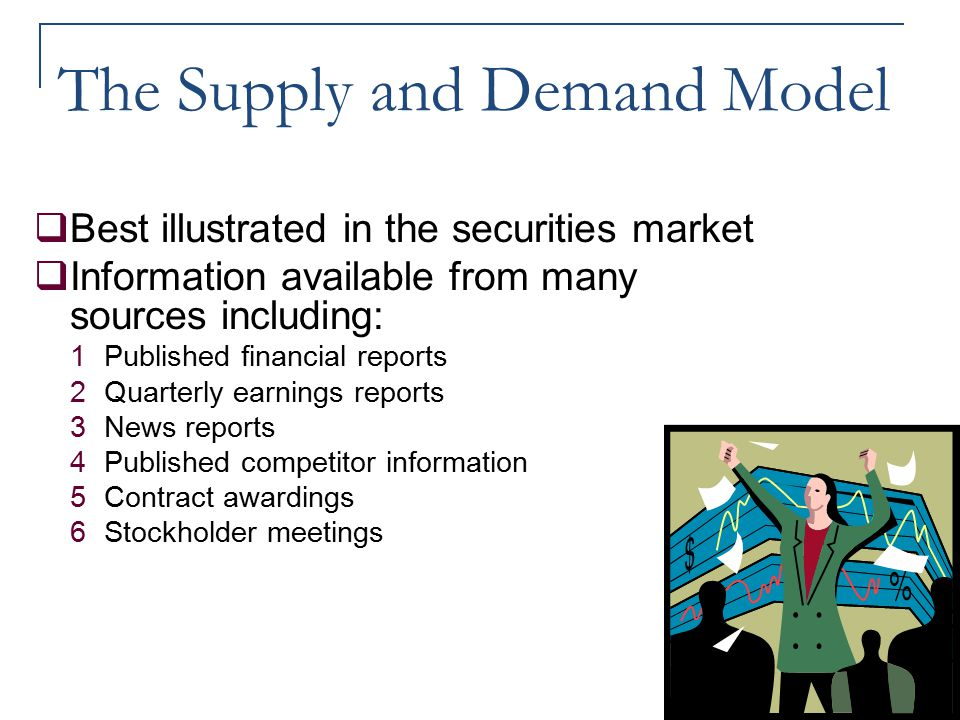 The Supply and Demand Model