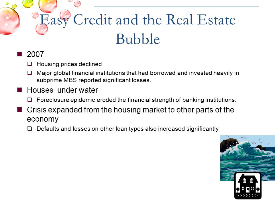 Easy Credit and the Real Estate Bubble