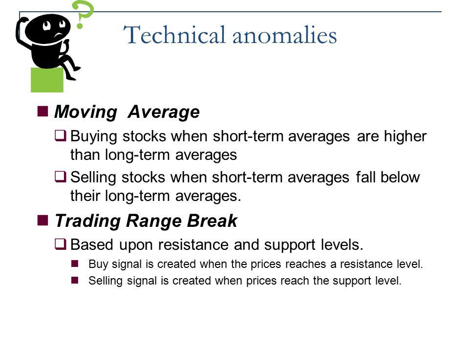 Technical anomalies Moving Average Trading Range Break