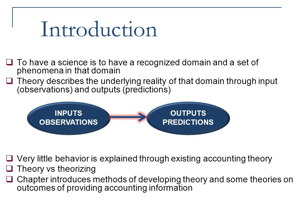 Introduction To have a science is to have a recognized domain and a set of phenomena in that domain.