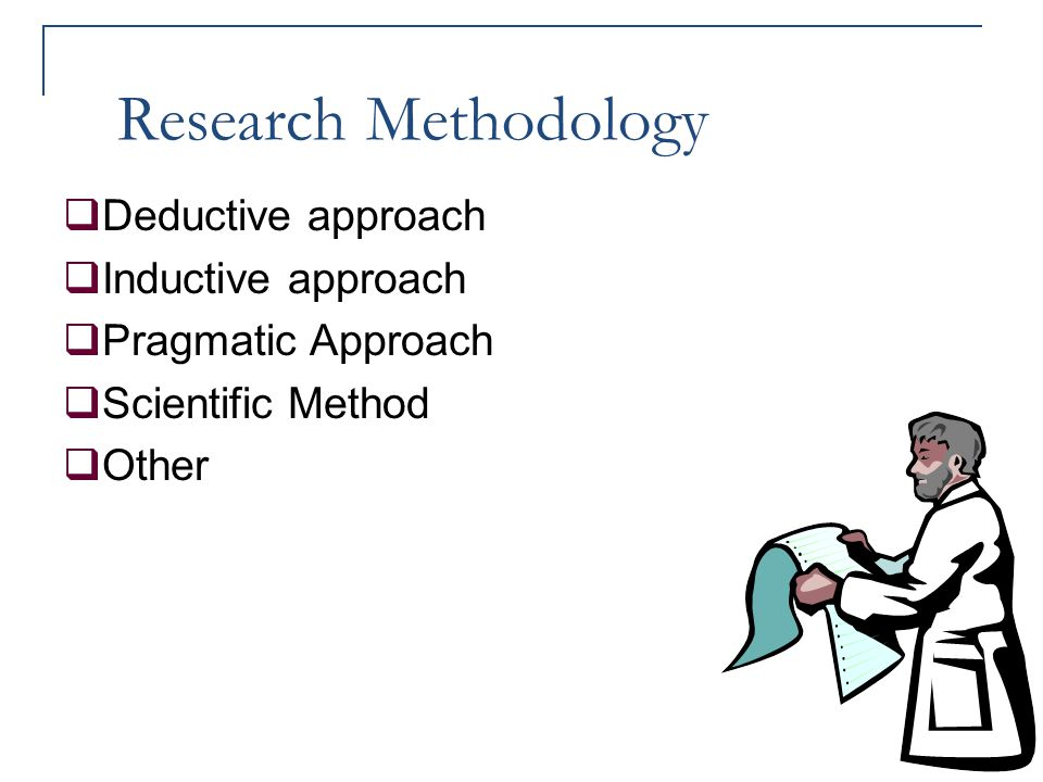 Research Methodology Deductive approach Inductive approach