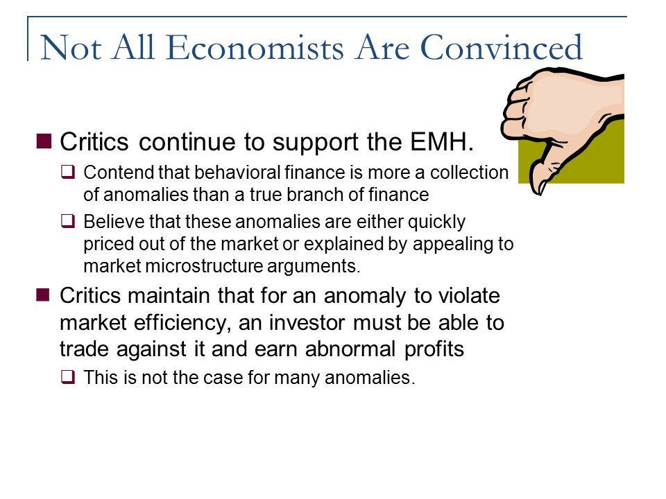 Not All Economists Are Convinced