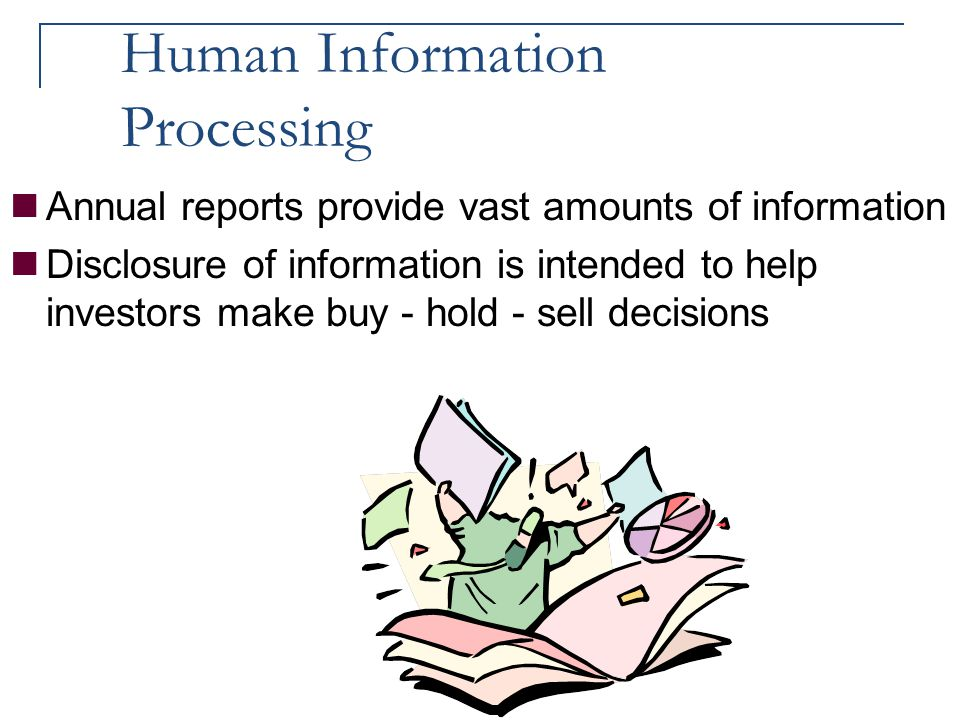 Human Information Processing