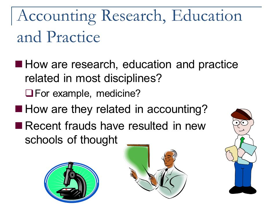 Accounting Research, Education and Practice