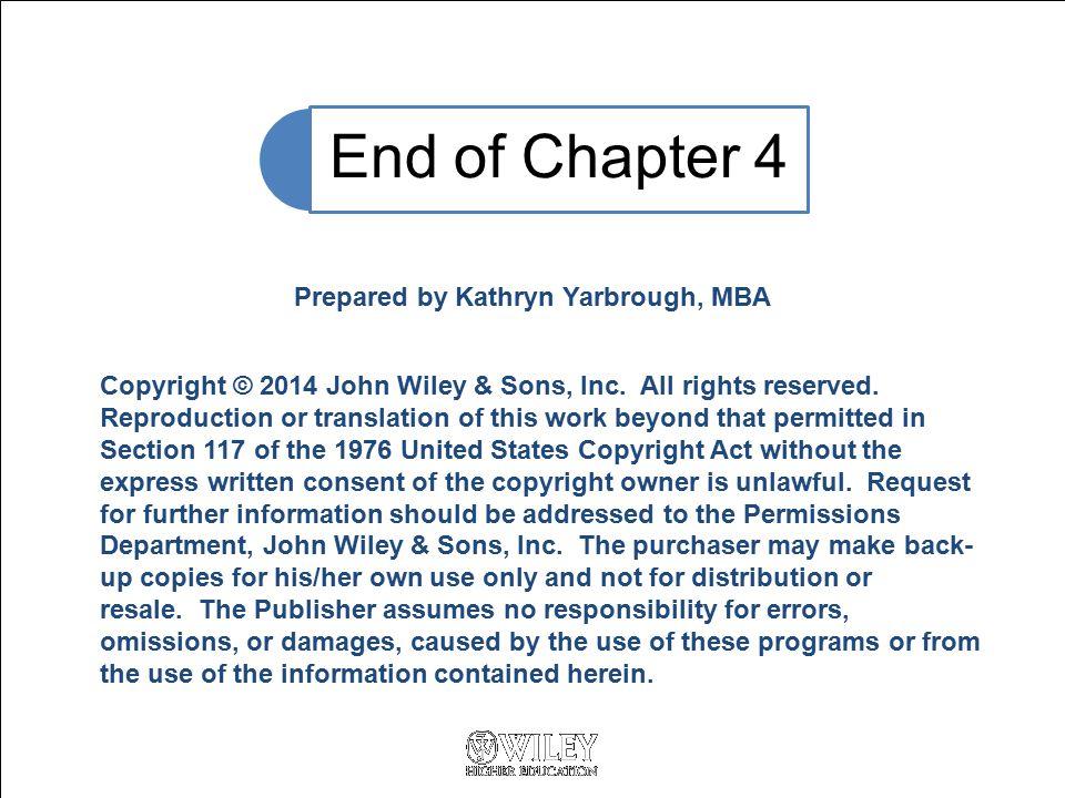 Prepared by Kathryn Yarbrough, MBA