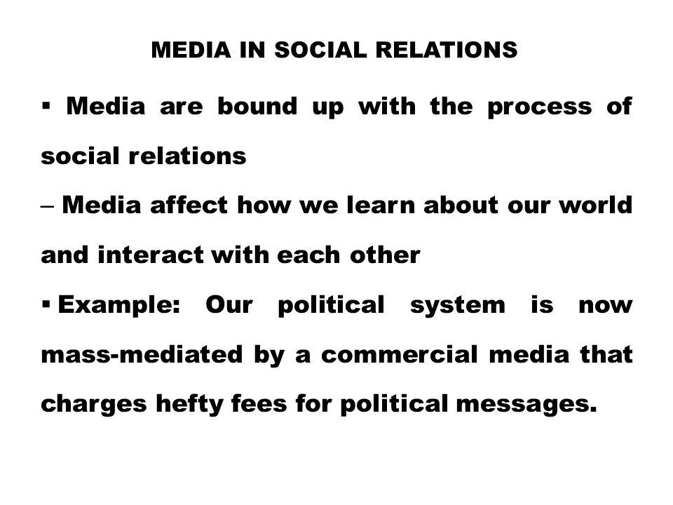 Media in Social Relations