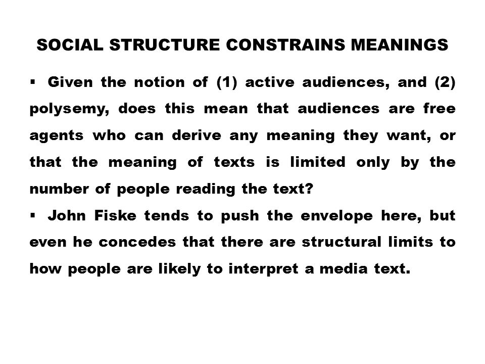 Social Structure Constrains Meanings