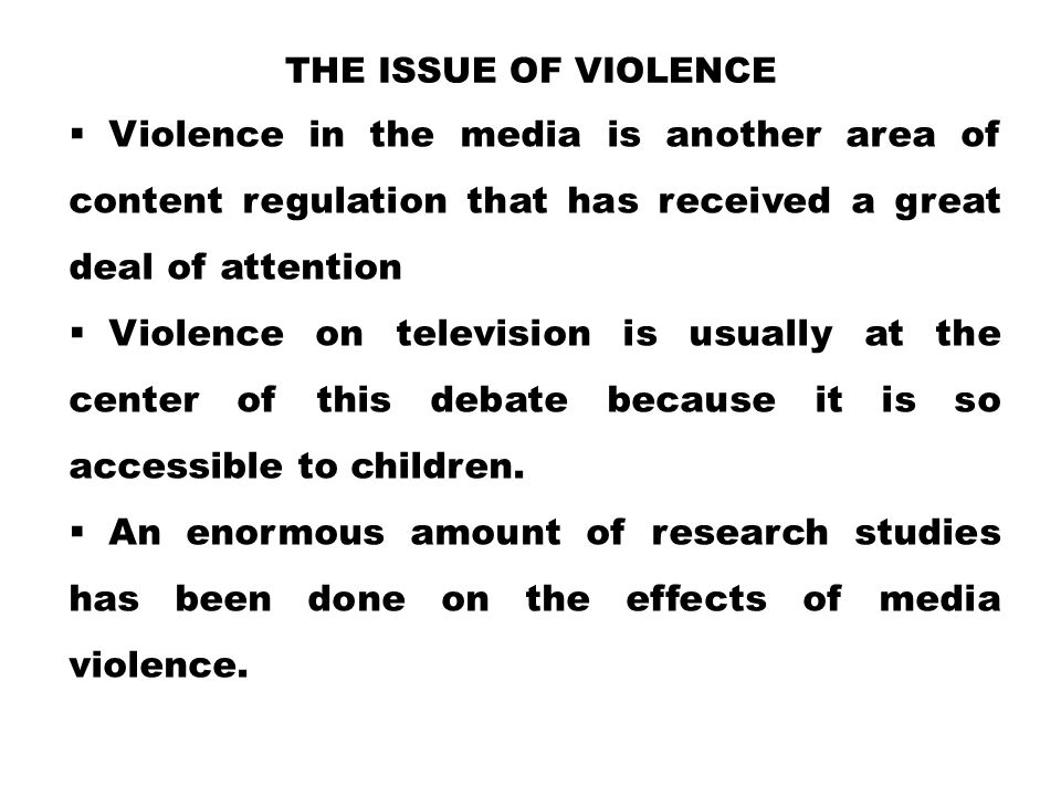"the effects of television violence on children and preventing it Reflection on ""the power of social modeling: the effects of  of television violence by children causes  of violence in television is preventing."