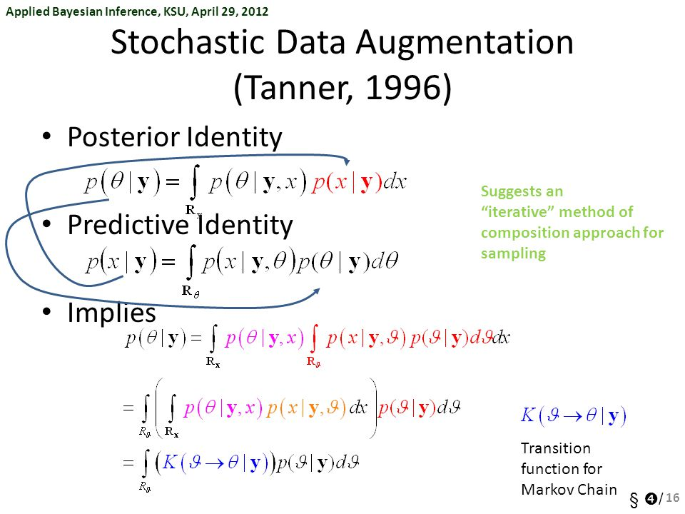 Stochastic Data Augmentation (Tanner, 1996)