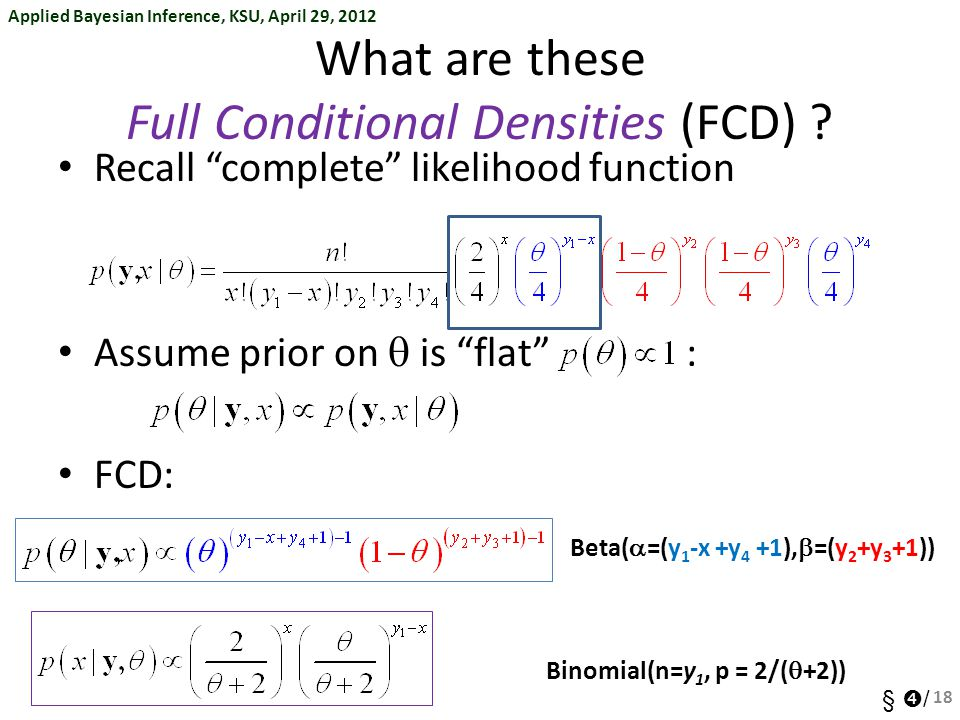 What are these Full Conditional Densities (FCD)