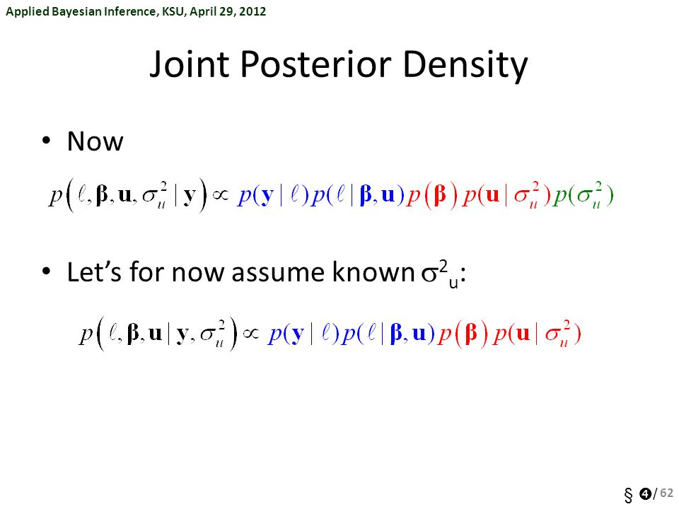 Joint Posterior Density