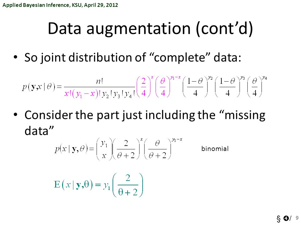Data augmentation (cont'd)