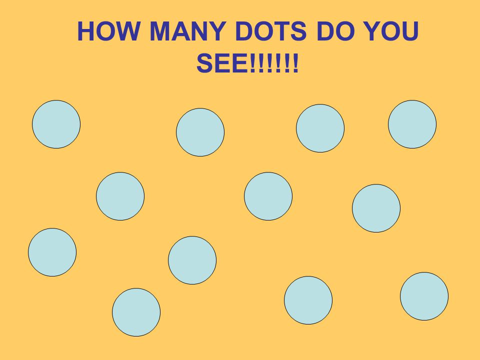 HOW MANY DOTS DO YOU SEE!!!!!!