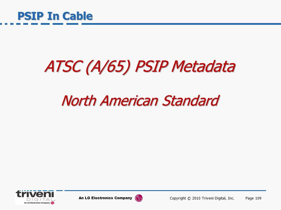 ATSC (A/65) PSIP Metadata