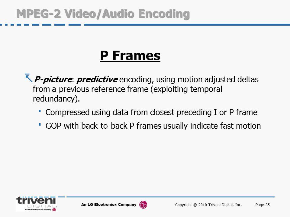 MPEG-2 Video/Audio Encoding