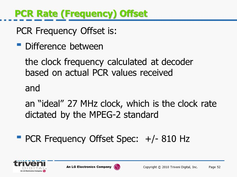 PCR Rate (Frequency) Offset