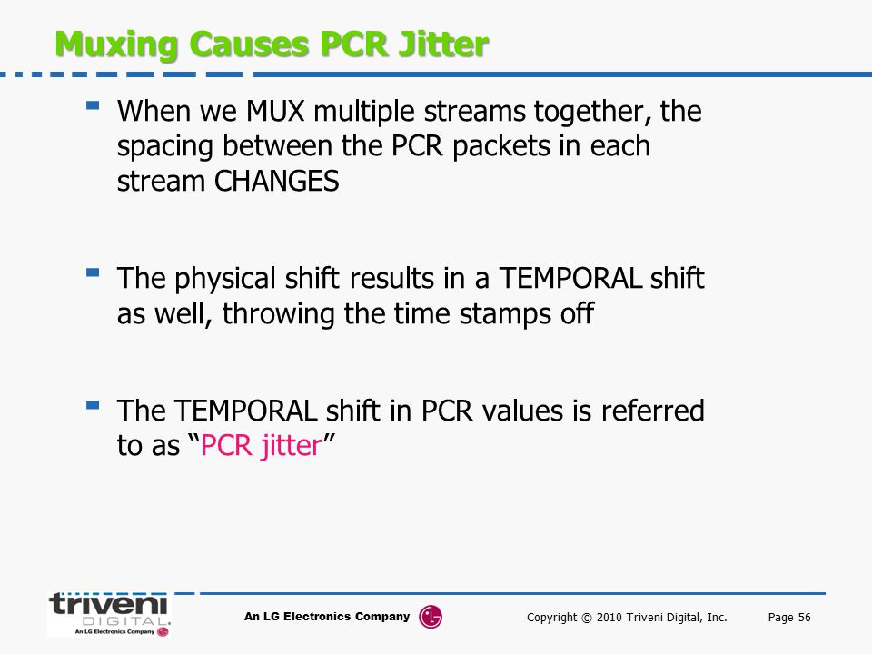 Muxing Causes PCR Jitter