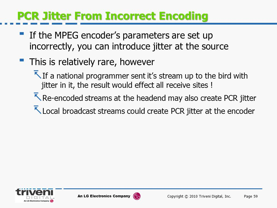 PCR Jitter From Incorrect Encoding