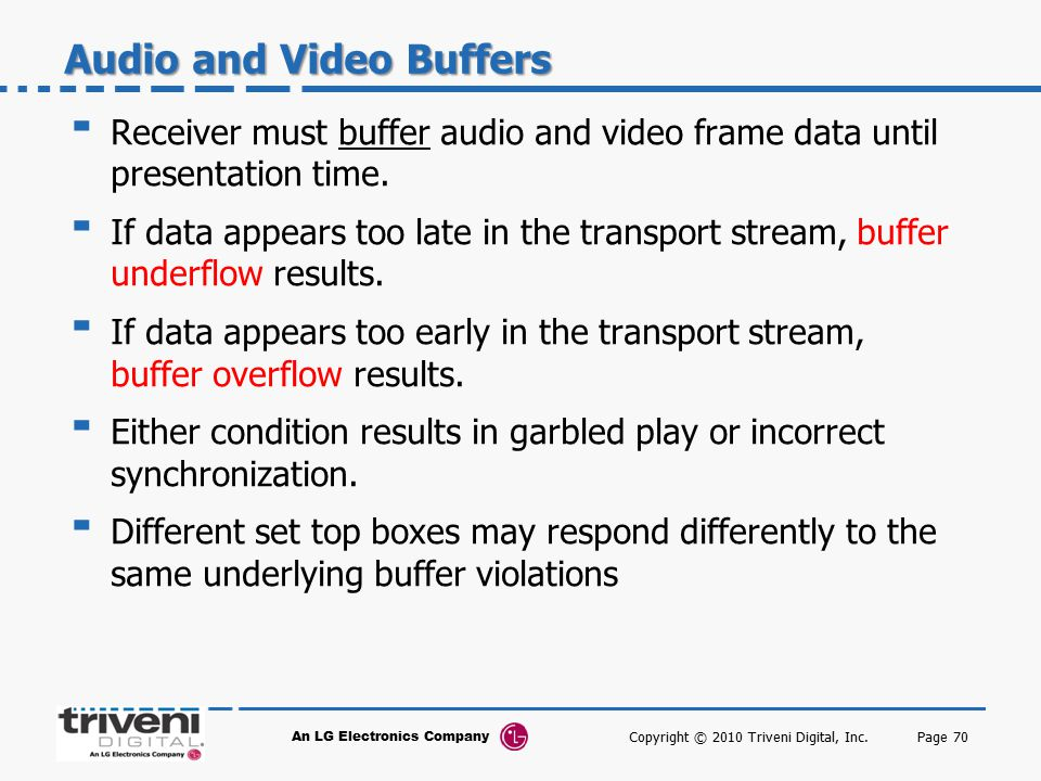 Audio and Video Buffers