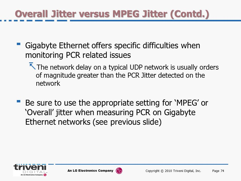 Overall Jitter versus MPEG Jitter (Contd.)