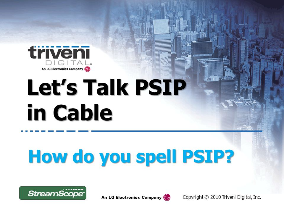 Let's Talk PSIP in Cable