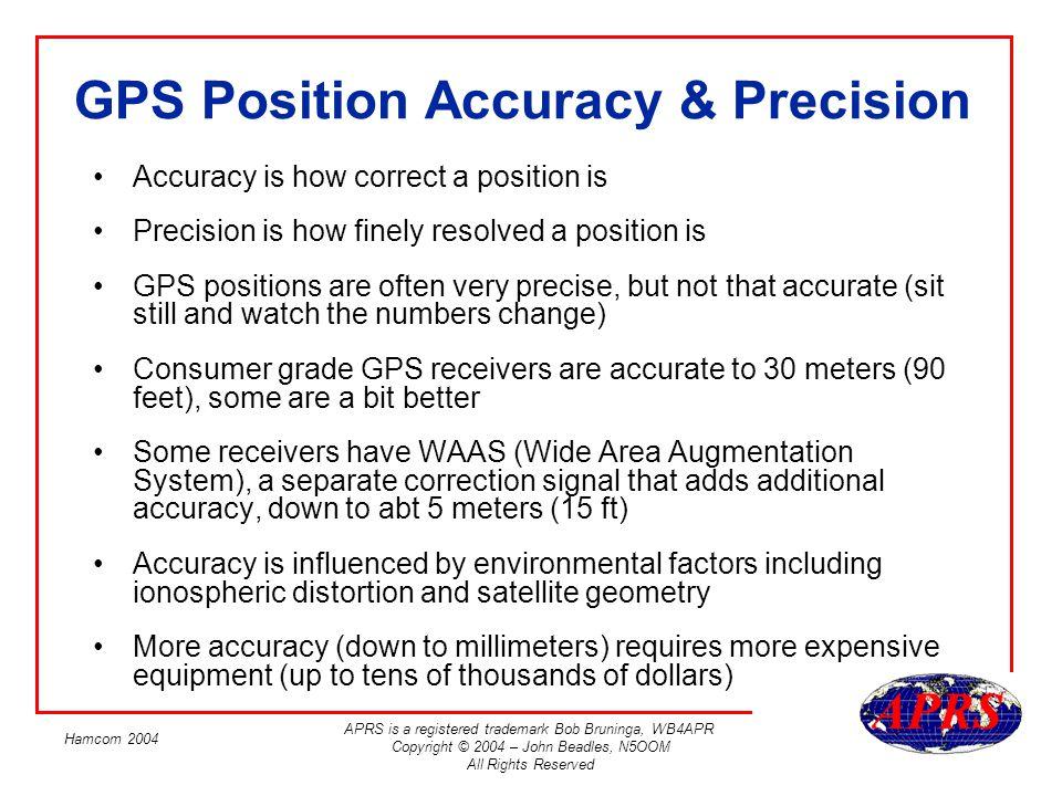 GPS Position Accuracy & Precision