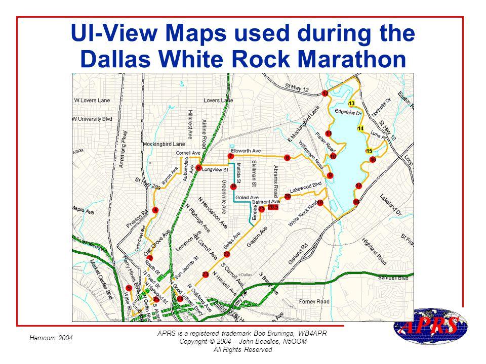 UI-View Maps used during the Dallas White Rock Marathon
