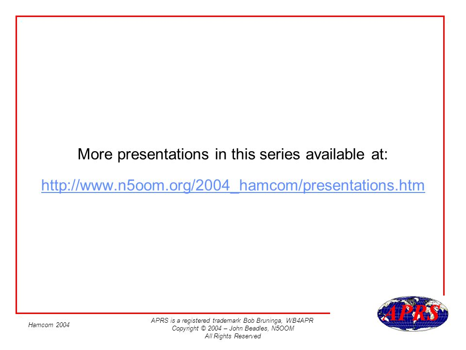 More presentations in this series available at: