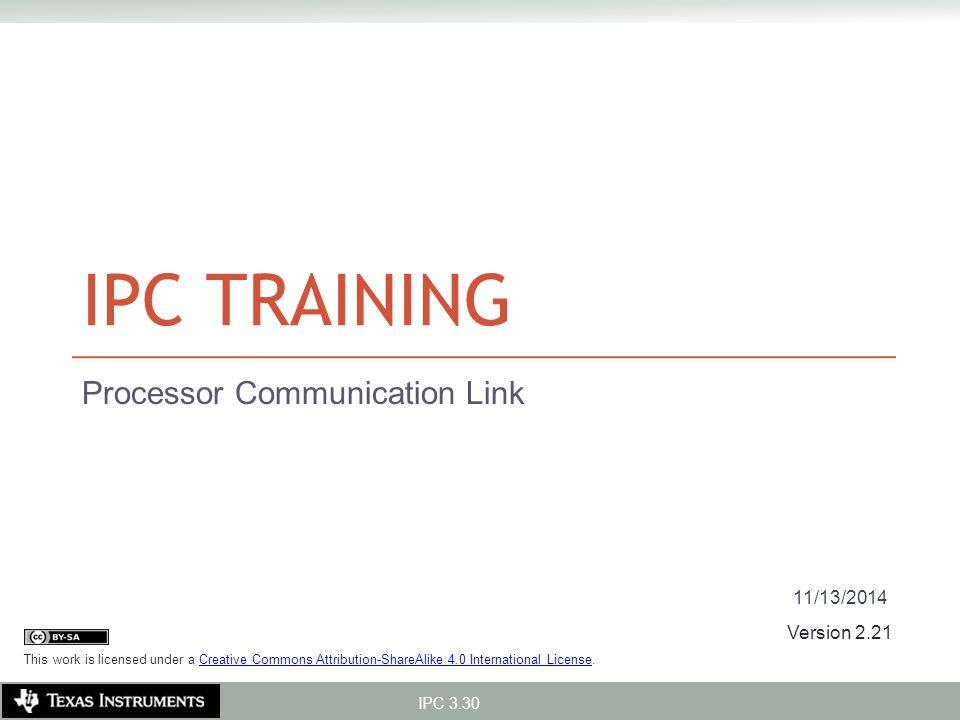 Processor Communication Link