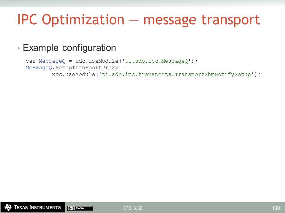 IPC Optimization — message transport