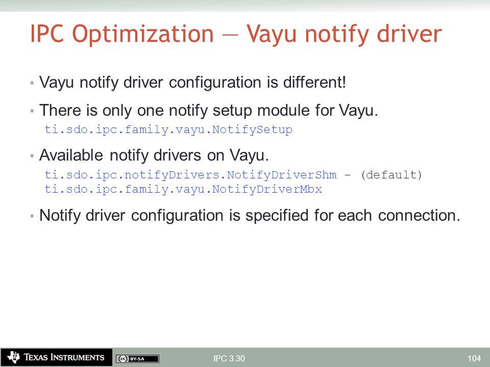 IPC Optimization — Vayu notify driver