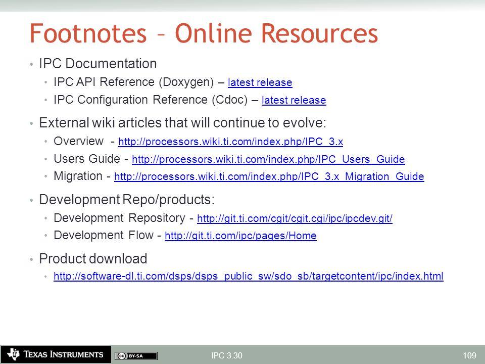 Footnotes – Online Resources