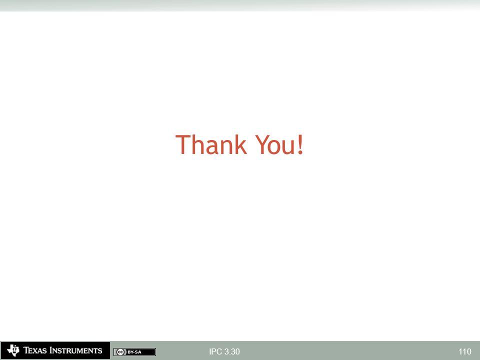 Thank You! IPC 3.30