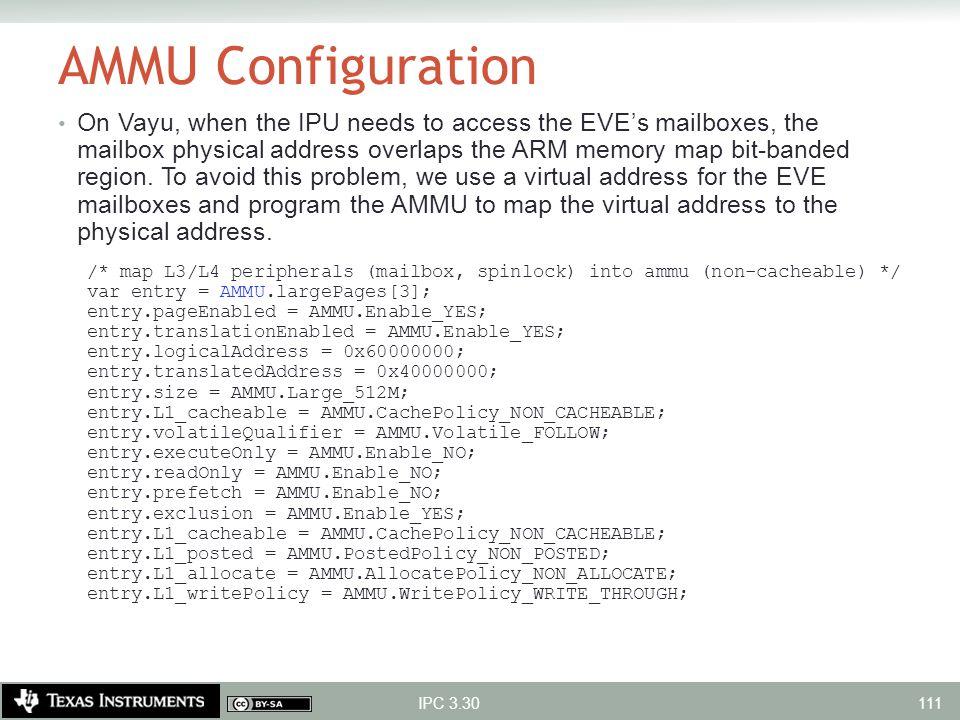 AMMU Configuration
