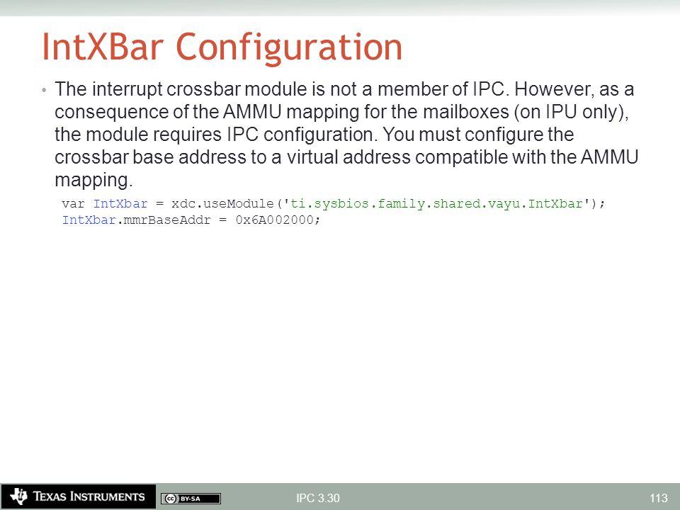 IntXBar Configuration