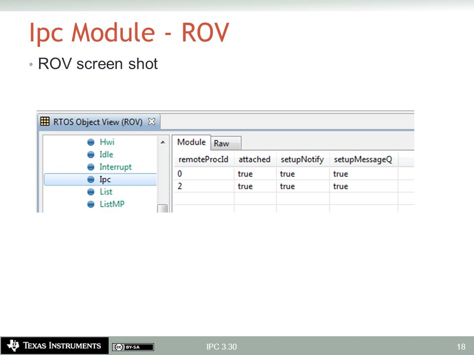 Ipc Module - ROV ROV screen shot IPC 3.30